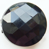 Solid Acrylic Beads, Faceted Flat Round 35x13mm Hole:2mm, Sold by Bag
