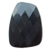 Solid Acrylic Beads, Faceted Nugget 30x24x9mm Hole:2mm, Sold by Bag