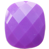 Solid Acrylic Beads, Faceted Rectangle 20x24x10mm Hole:2mm, Sold by Bag