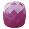 Solid Acrylic Beads, Faceted Rectangle 24x31x8mm Hole:2mm, Sold by Bag