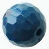 Solid Acrylic Beads, Faceted Round 16mm Hole:2mm, Sold by Bag
