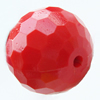 Solid Acrylic Beads, Faceted Round 20mm Hole:2mm, Sold by Bag