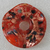 Gold Sand lampwork Pendant Mix Color, Twist Flat Round 47mm Hole:11.5mm, Sold by Box