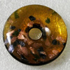 Gold Sand lampwork Pendant Mix Color, Flat Round 44mm Hole:8.5mm, Sold by Box