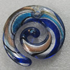 Gold Sand lampwork Pendant Mix Color, 50x45mm Hole:5mm, Sold by Box