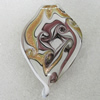 Gold Sand lampwork Pendant Mix Color, Leaf 62x41mm Hole:6mm, Sold by Box