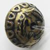 Washed Acrylic Beads, Flat Round 17x11mm Hole:2mm