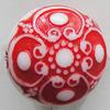 Washed Acrylic Beads, Flat Round 17mm Hole:2mm