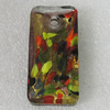 Gold Sand lampwork Pendant Mix Color, Rectangle 50x24mm Hole:5mm, Sold by Box