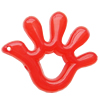 Imitate Jade Acrylic Pendant, Hand, 57x46mm, Hole: Approx 3mm,Sold by Bag