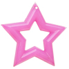 Imitate Jade Acrylic Pendant, Star, 57mm, Hole: Approx 3mm,Sold by Bag