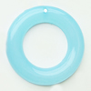 Imitate Jade Acrylic Pendant, Donut, 48mm, Hole: Approx 26mm,Sold by Bag
