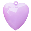 Imitate Jade Acrylic Pendant, Heart, 40x35mm, Hole: Approx 2mm,Sold by Bag