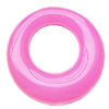 Imitate Jade Acrylic Pendant, Donut, 30mm, Hole: Approx 15mm,Sold by Bag