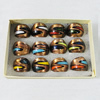 Lampwork Glass Rings Mix Color, Ring size:17-19mm, Sold by Box
