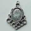 Zinc Alloy Cabochon Settings, 29x20mm Hole:1.5mm, Sold by Bag