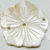 Carved Shell Connector, Flower, 29mm Hole:1mm, Sold by PC