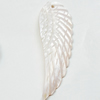 Carved Shell Pendant, Leaf, 52x18mm Hole:1mm, Sold by PC