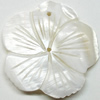 Carved Shell Pendant, Flower, 40mm Hole:1mm, Sold by PC