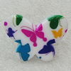 Acrylic Ring, Butterfly 39x30mm, Sold by Group
