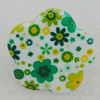 Acrylic Ring, Flower 40mm, Sold by Group