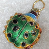 Cloisonne Pendent,18x26mm, Sold by PC