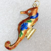 Cloisonne Pendent,23x52mm, Sold by PC