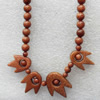 Gold Sand Stone Necklace,Round:6mm, Sold per 17.7Inch Strand