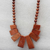 Gold Sand Stone Necklace,Rectangle,10x14-13x30mm, Sold per 17.7Inch Strand