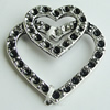 Pendant Setting Zinc Alloy Jewelry Findings Lead-free, Heart 23x22mm, Sold by Bag