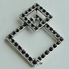 Pendant Setting Zinc Alloy Jewelry Findings Lead-free, Diamond 33x27mm, Sold by Bag