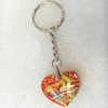 Key Chain Resin Pendant, 28x25mm, Length Approx 8.5cm, Sold by PC