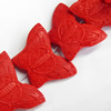 Cinnabar Beads, Butterfly, 37x27mm, Hole:Approx 2mm, Sold by PC