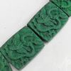 Cinnabar Beads, Rectangle, 20x25mm, Hole:Approx 2mm, Sold by PC