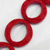 Cinnabar Beads, Dount, 28mm, Hole:Approx 2mm, Sold by PC