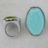 Acrylic Rings, Flat Drum 38x26mm, Sold by PC