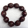 Tibetan Imitate Yak Bone Chain Bracelet,17x21mm,Length Approx 10cm, Sold by Strand