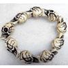 Tibetan Imitate Yak Bone Chain Bracelet,13x25mm,Length Approx 9cm, Sold by Strand