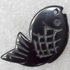 Non-Magnetic Hematite Pendants, Fish, 30x17mm, Hole:Approx 2mm, Sold by Bag
