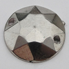 CCB Cabochons With Hole, With Costume or Headwear, Faceted Flat Round 25mm Hole:1mm, Sold by KG