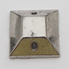 CCB Cabochons With Hole, With Costume or Headwear, Faceted Square 10mm Hole:1mm, Sold by KG