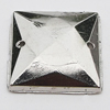 CCB Cabochons With Hole, With Costume or Headwear, Faceted Square 15mm Hole:1mm, Sold by KG