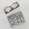 Rhinestone,12x9mm,Hole:Approx 1mm, Sold by Bag
