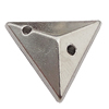 CCB Cabochons With Hole, With Costume or Headwear, Triangle 12mm Hole:1mm, Sold by KG