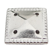 CCB Cabochons With Hole, With Costume or Headwear, Square 13mm Hole:0.5mm, Sold by KG