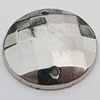 CCB Cabochons With Hole, With Costume or Headwear, Faceted Flat Round 10mm Hole:0.5mm, Sold by KG