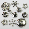 Jewelry findings CCB Plastic Spacer Beads Mixed Style 7-20mm, Sold by Bag