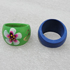 Wooden Finger Ring, Hole:18mm, Sold by Box