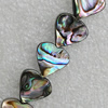 Natural Black Shell Beads, Heart 13x12mm Hole:mm, Sold by Strand