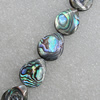 Natural Black Shell Beads, Teardrop 16x13mm Hole:1mm, Sold by Strand